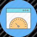 browser, internet, speed, test icon