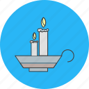 candles, christmas, fire icon