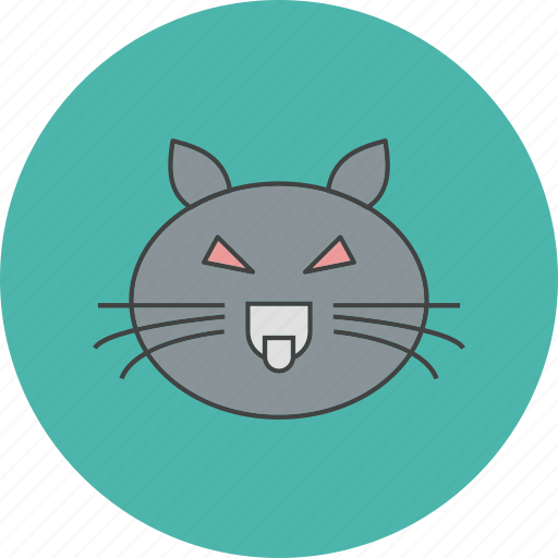 cat, danger, halloween icon