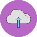 cloud, server, upload icon