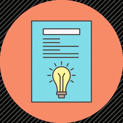 creative, idea, report icon