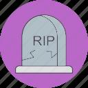 dead, death, grave, rip icon