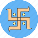 diwali, hindu, india, sign icon