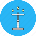 fire, lamp icon