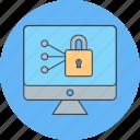 lcd, lock, locked icon