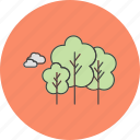 natural, nature, park, trees icon