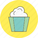 christmas, pop, popcorn icon