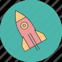 design, illustration, launch, rocket, ship, space icon