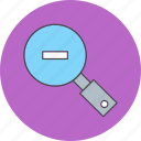 find, magnifier, out, search, zoom icon