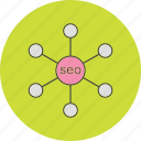 link, seo, setting icon