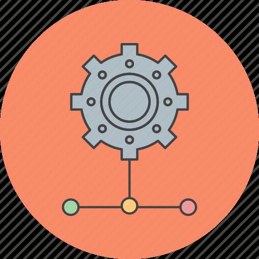 link, server, setting icon