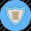 delete, shield, trash icon