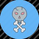 bones, danger, halloween, skull icon
