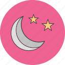 moon, night, stars icon
