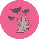 danger, halloween, screy, tree icon