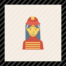 avatar, female, person, profile, user, woman, worker icon