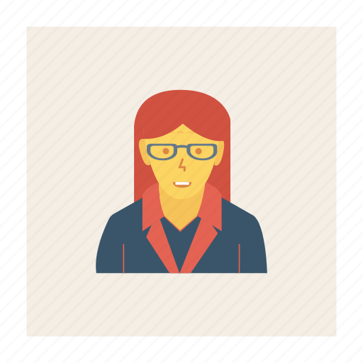 avatar, female, lady, person, profile, user, working icon