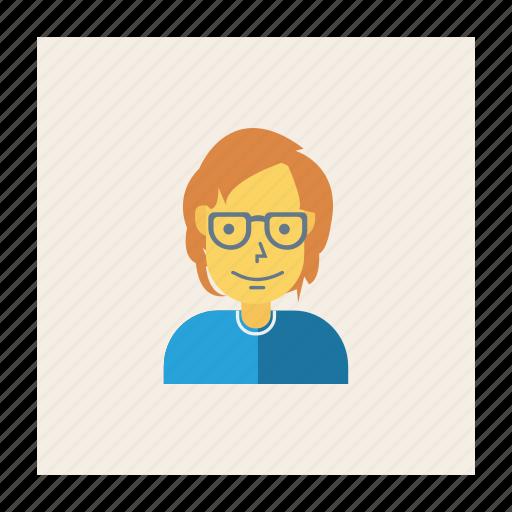 avatar, female, girl, person, profile, user, young icon