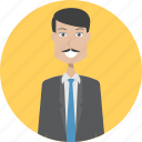 accountant, avatar, career, character, face, male, profession icon