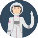 astronout, avatar, career, character, face, male, profession icon