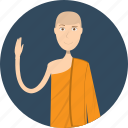 avatar, career, character, lecturer, male, monk, profession icon