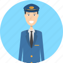 avatar, career, character, face, male, pilot, profession icon