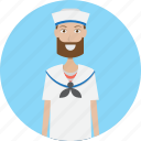 avatar, career, character, face, male, profession, sailor icon
