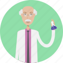 avatar, career, character, face, male, profession, scientist icon