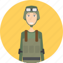 avatar, career, character, face, male, profession, soldier icon