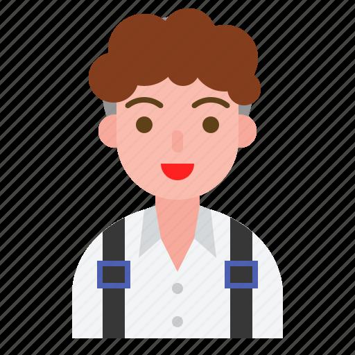 avatar, boy, student, teenage, uniform icon