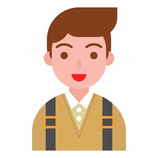 avatar, bag, boy, education, student, study icon