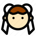 avatar, chun li, face, flat icon, game icon, girl, person icon