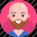 boy, avatar, male, man, person, beard, human