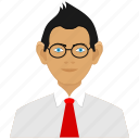avatars, boy, business man, client, man icon