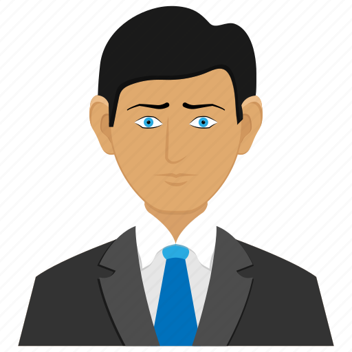 avatars, business man, client, man icon
