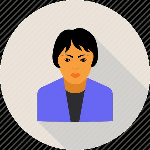 avatar, female, hair, user, woman icon