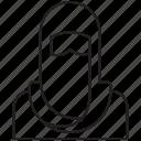 avatar, female, girl, user, veil icon