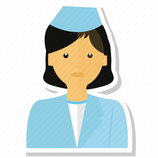 asistante, avatar, doctor, woman icon
