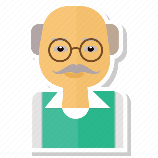 avatar, man, old, person, user icon