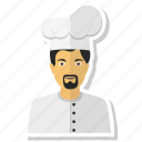 avatar, chef, man, men, user icon