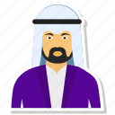 arab, avatar, man, muslim, person, profile, user icon