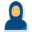 avatar, female, girl, muslim, person, profile, use icon