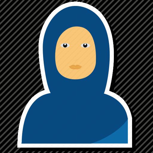 avatar, female, girl, muslim, person, profile, use icon