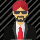 banker, sikh, sikh banker, sikh investor, sikhism icon