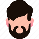 avatar, beard, character, emo, geeky, mustache, slow icon