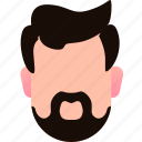 beard, businessman, character, man, person, profile