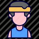 athlete, avatar, man, sport icon
