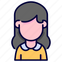 avatar, female, girl, people, user, woman icon
