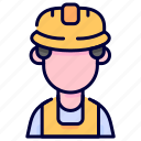 avatar, builder, industrial, job, occupation, profession, worker icon