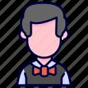 avatar, man, men, people, waiter icon